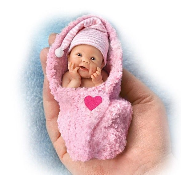 Bundle of Love Pink Baby Bundle Babies by Sherry Rawn Ashton Drake Doll