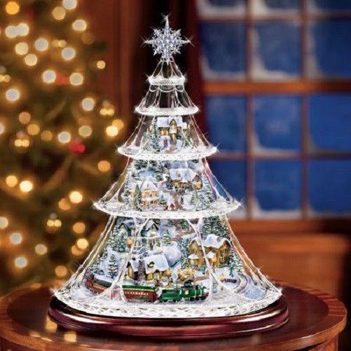 Thomas The Train Christmas Tree.Holiday Reflections Train Christmas Tree Thomas Kinkade Bradford Exchange