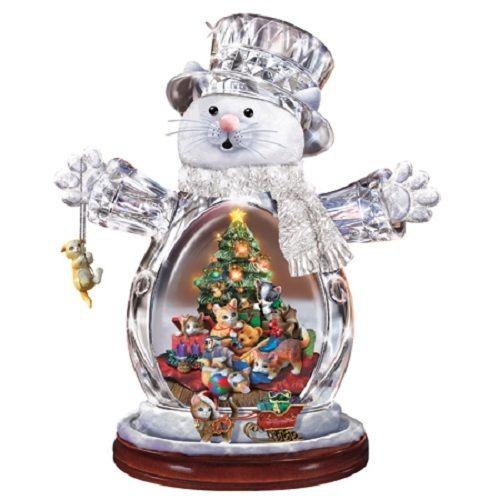 JURGEN SCHOLZ CRYSTAL SNOW CAT Christmas Bradford Exchange