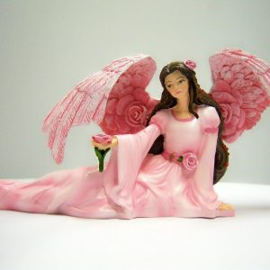 Bradford Exchange Powerful Lotus Angel Angels of the Heavenly Garden Figurine