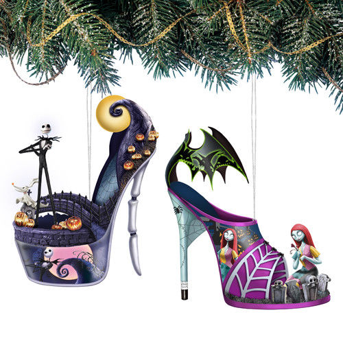 0bcb1c976a2 Nightmare Before Christmas Jack   Sally  1 Disney Slipper Shoe ...